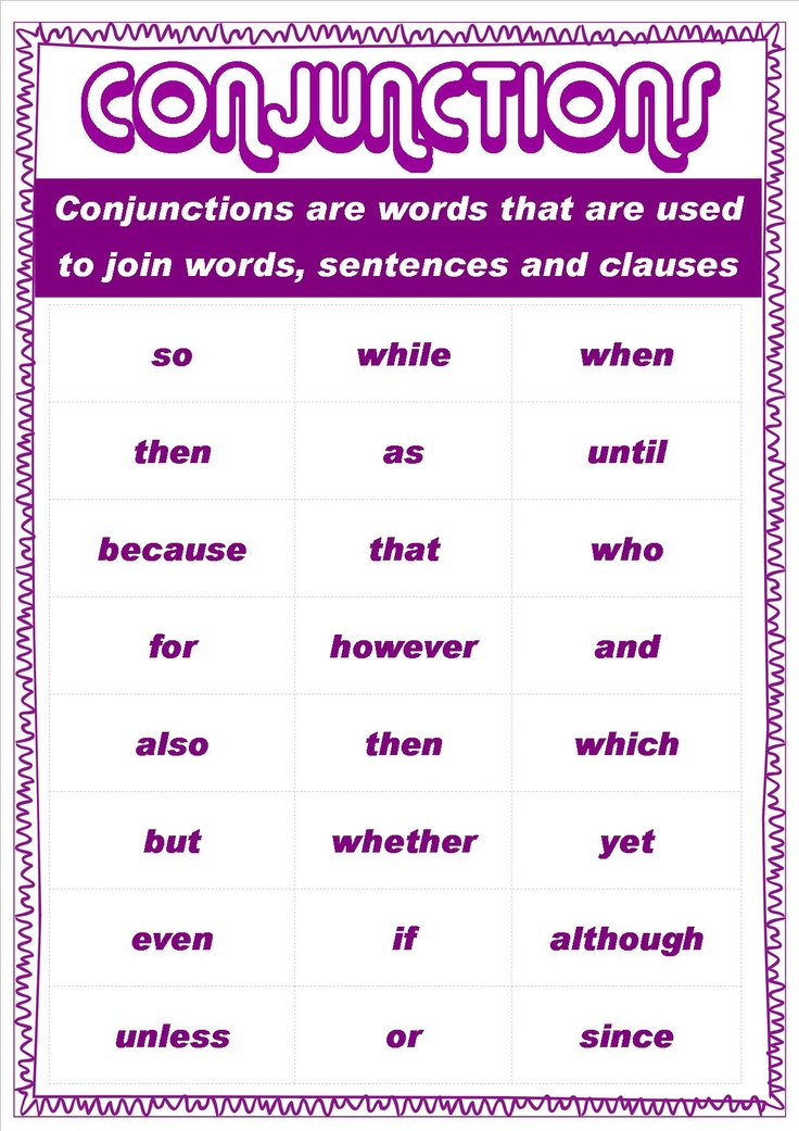 Conjunction in writing essay