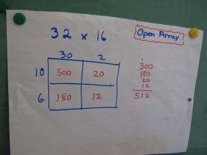 open array for multiplication